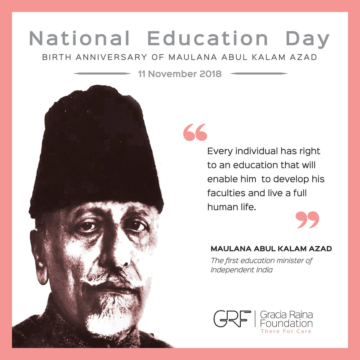 Education is not preparation for life; education is life itself #NationalEducationDay