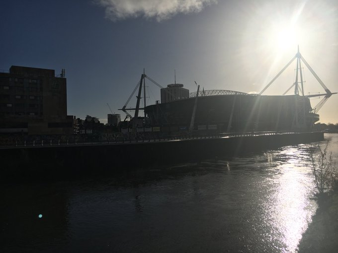 Beautiful Cardiff the morning after an historic win #WalvAus Photo