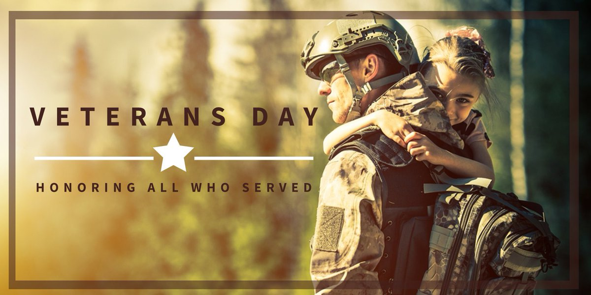 Thanks to you and your families for your service, bravery, and sacrifice to secure our country and our freedom. #ThankYouForYourService #VeteransDay2018