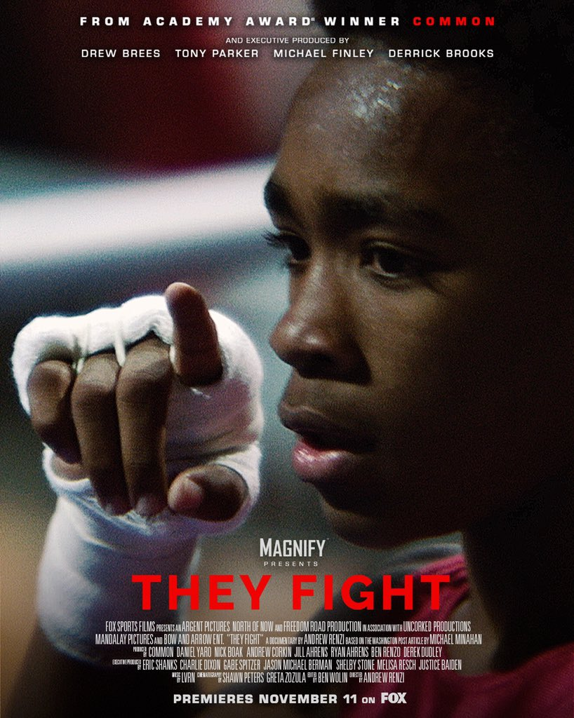 """Honored to be a part of this great documentary! Please watch """"They Fight"""" today at 4:30 EST on @FOXSports. @ArgentPictures #TheyFight"""