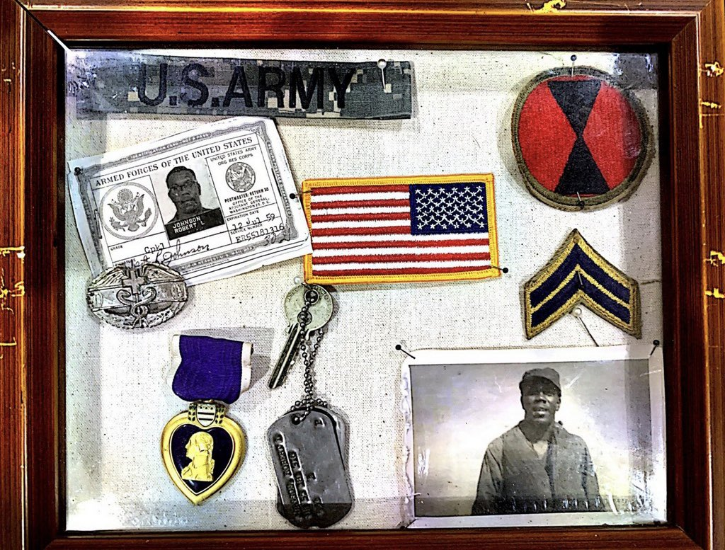These belonged to my late grandfather Dr. Robert Johnson who served in the Korean War...remembering and honoring you today 🙌🏾