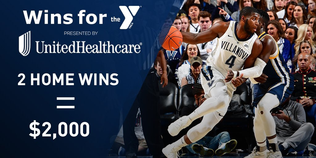 Another home win means more 💰 for the YMCA courtesy of our friends at @UHC! #WinsForTheY #NovaNation