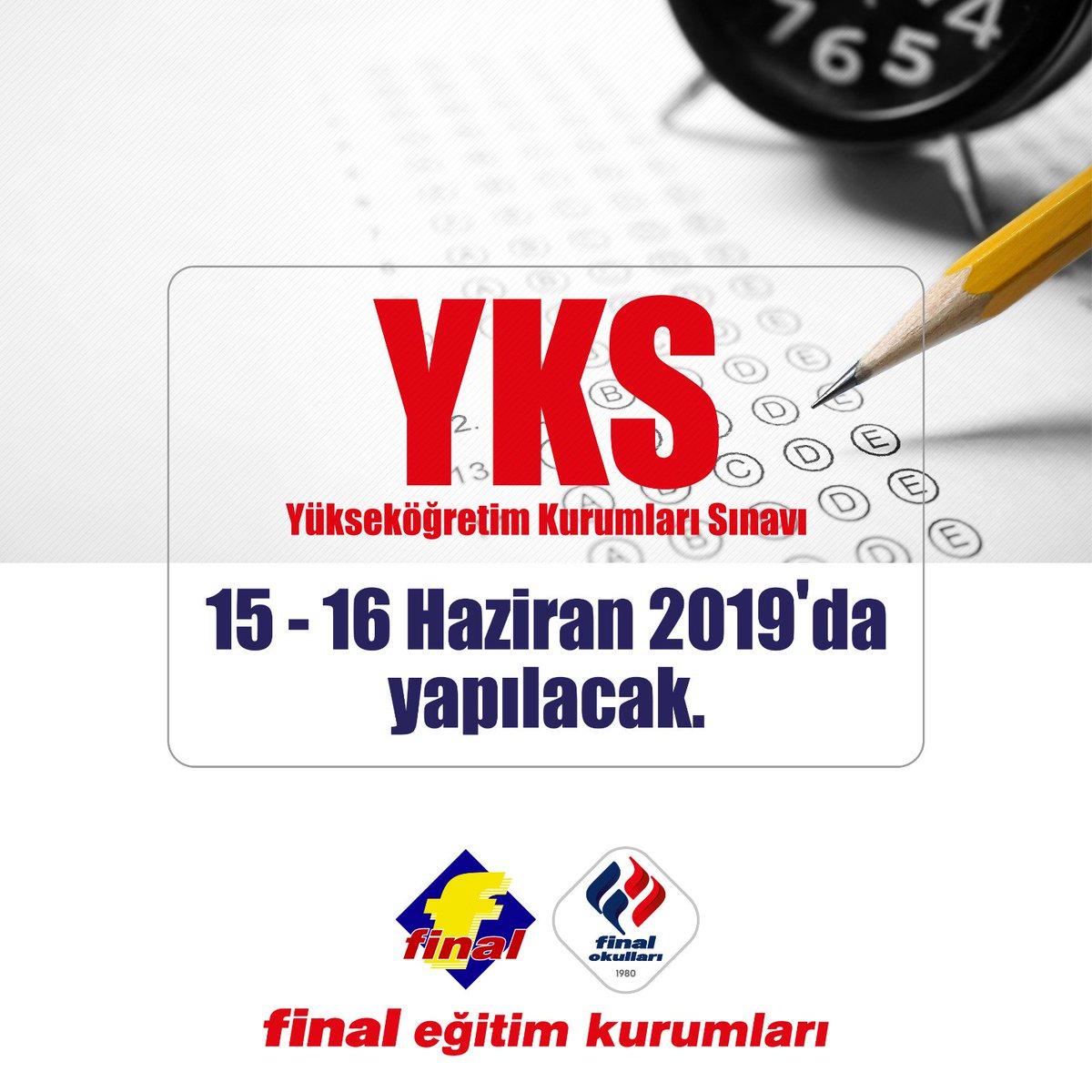Bu yılki Yükseköğretim Kurumları Sınavı 15-16 Haziran'da yapılacak.Unutma henüz geç kalmış değilsin. #Finalbeşyol https://t.co/2ZKxY2qyZh