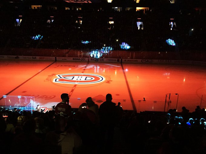 Went to the Habs-Golden Nights hockey game at the Bell Centre last night. We watched the unusual sight of Max Pacioretty skating around in a Las Vegas uniform. The Habs would seem to be back with a fast young(er) team that never seems to quit. They won an exciting game 5 to 4. Photo