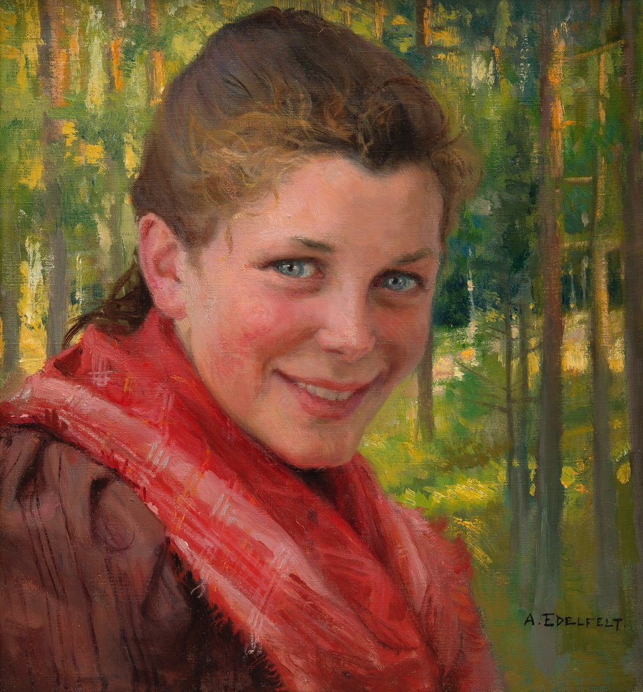"""Good afternoon all. """"Her blue, almond-shaped eyes have passed into a liquid state. So much so that, when she closed them, it was as though a pair of curtains had been drawn to shut out a view of  the sea."""" M. Proust Albert Edelfelt, A Girl from Porvoo 1895. #DonneInArte #ArteYArt<br>http://pic.twitter.com/aFmEVCoGKk"""