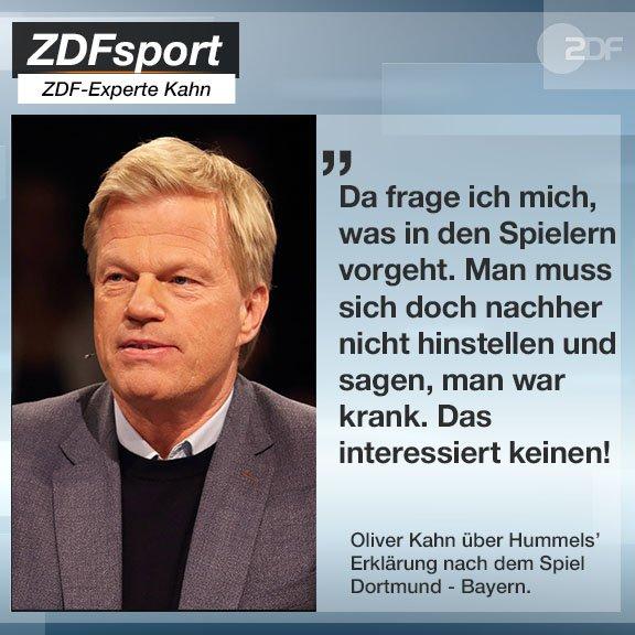@OliverKahn hat eine ganz klare Meinung zur Krankheitsaussage von @matshummels. 🤧#Sportstudio #BVBFCB Foto