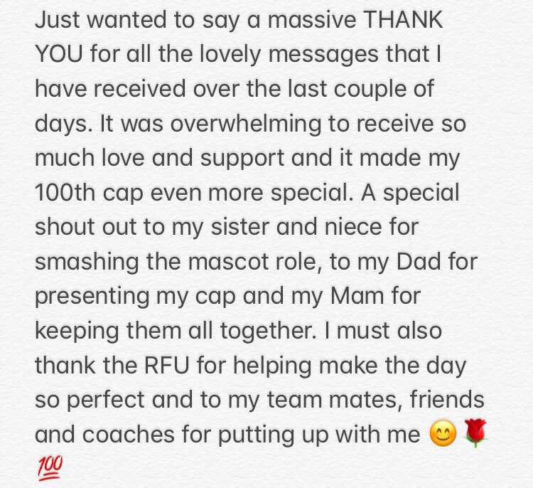 The most amazing couple of days 🌹💯#ThankYou #100caps