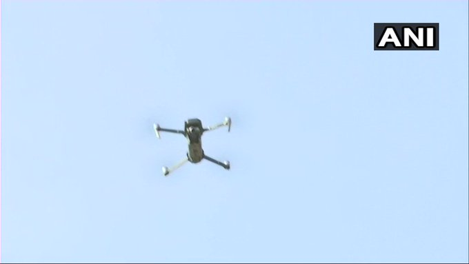 Drone being used for security surveillance in Dantewada ahead of the first phase of voting in #ChhattisgarhElections2018 tomorrow. Photo