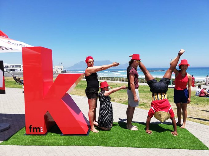 Awesome day at the beach, went for the KFM #KfmLovesKaapstad Photo