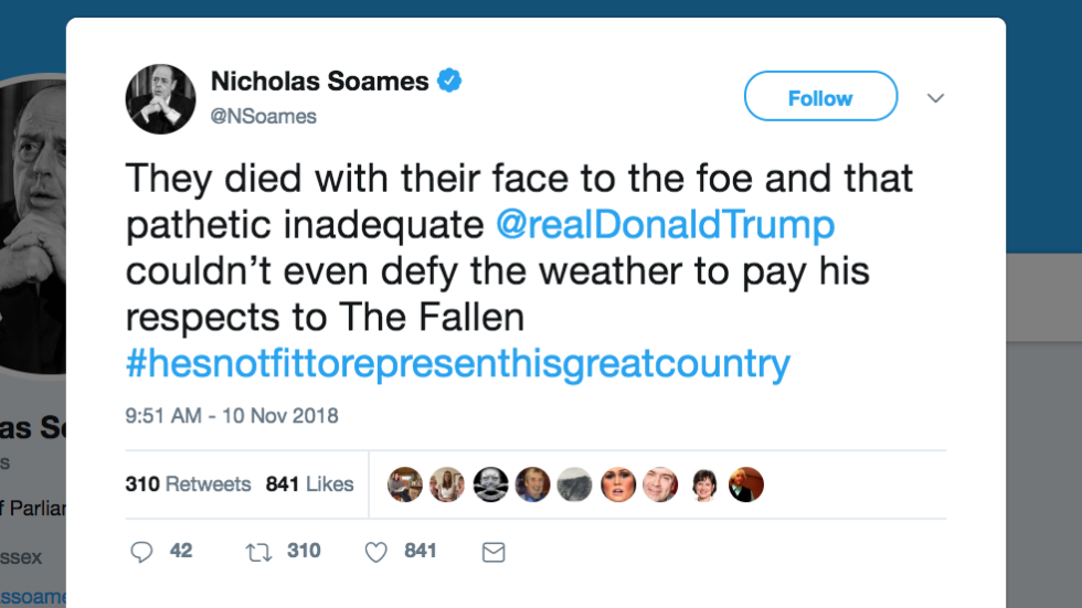 Churchill's grandson torches Trump for skipping cemetery visit because of rain https://t.co/hBUkm0GBfi https://t.co/VW43EB5aS4