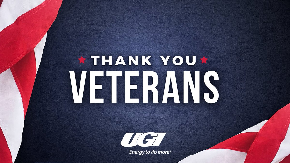 test Twitter Media - UGI thanks all of the brave men and women who have served in the United States Armed Forces. UGI is proud to employ 94 Veterans, and we salute you for your service! https://t.co/c3757ZoI62