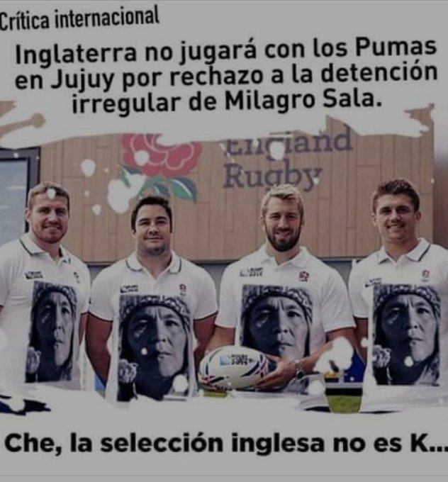 Mientras los Pumas siguen sobreactuando cuando cantan el Himno Nacional, los ingleses (nada menos!) tienen ciertas cosas Foto