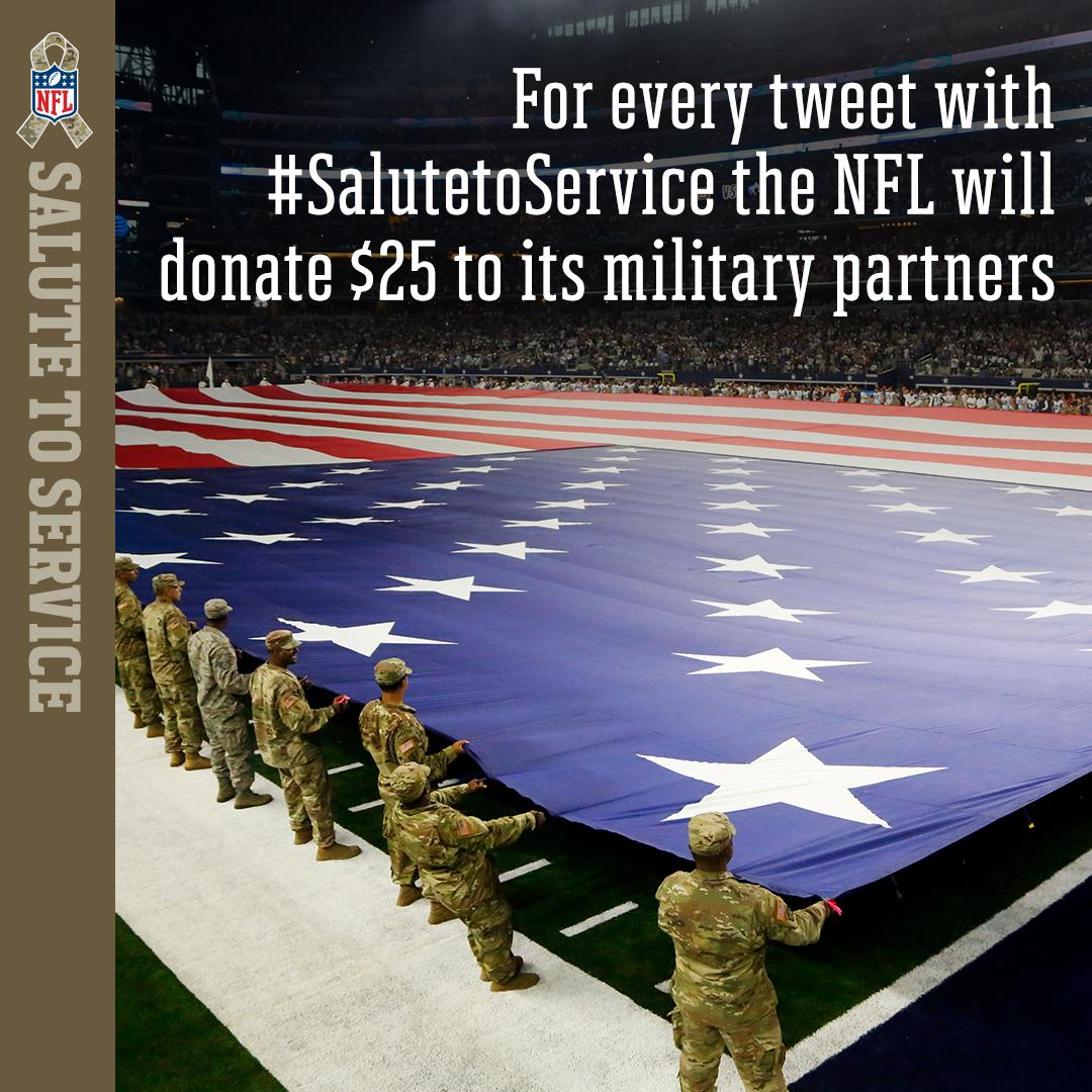 We're up OVER $1.5M! Let's get to $2M today!  TODAY ONLY we're raising the donation to $25 per tweet when you use #SaluteToService.  Keep tweeting! Retweets count!