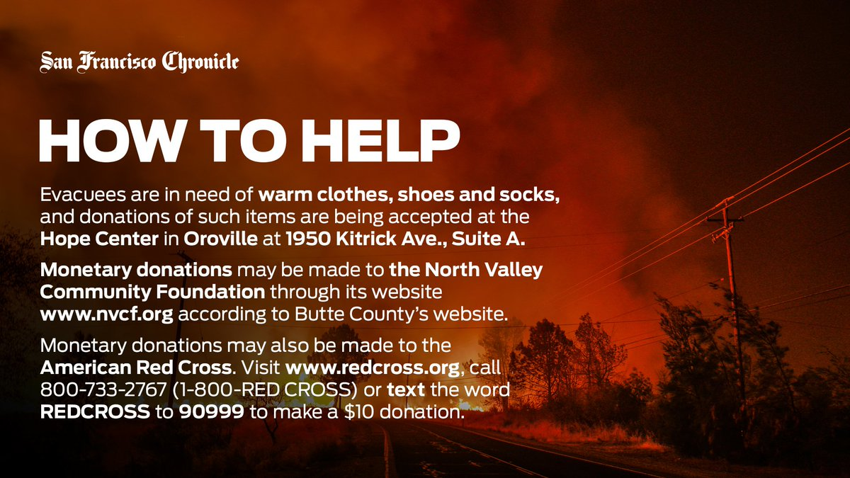 Here's how you can help the victims of Butte County's devastating #CampFire  Read more: https://t.co/Quc1hmeF7S
