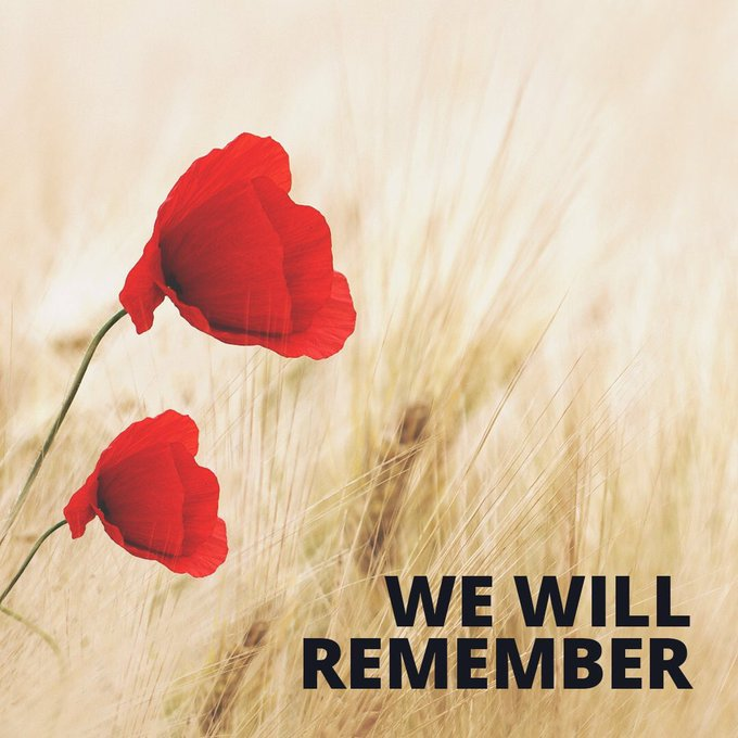 Today marks 100 years since the end of World War One, we remember the fallen. #RemembranceDay2018 Photo