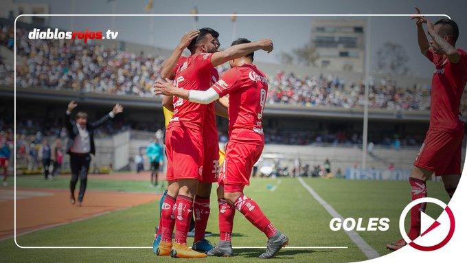 ⚽️🔥 ¡Domingo de fútbol en nuestro infierno! ¡Iniciamos el día con los más recientes goles de nuestros Diablos anotados a Pumas! Ve aquí los goles: Foto