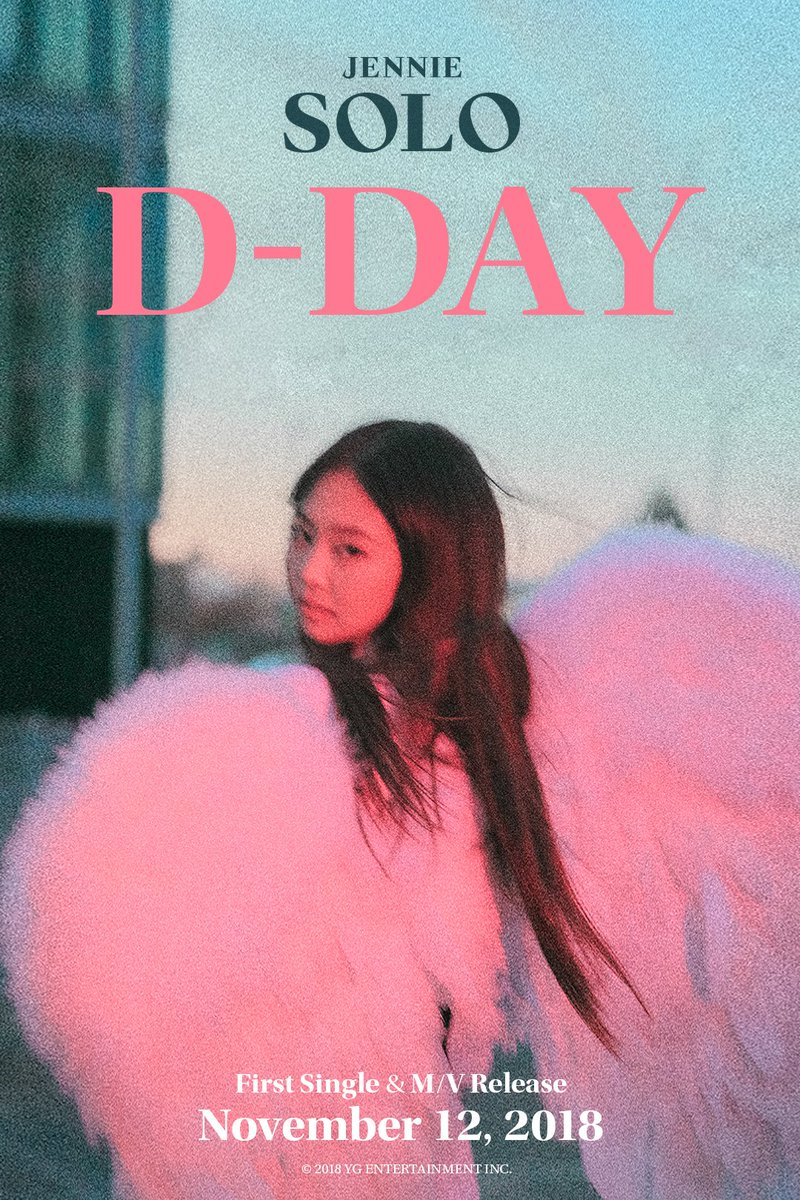 #JENNIE '#SOLO' D-DAY POSTER  First Single & M/V Release ✅ 2018. 11. 12  #BLACKPINK #블랙핑크 #제니 #D_DAY #YG