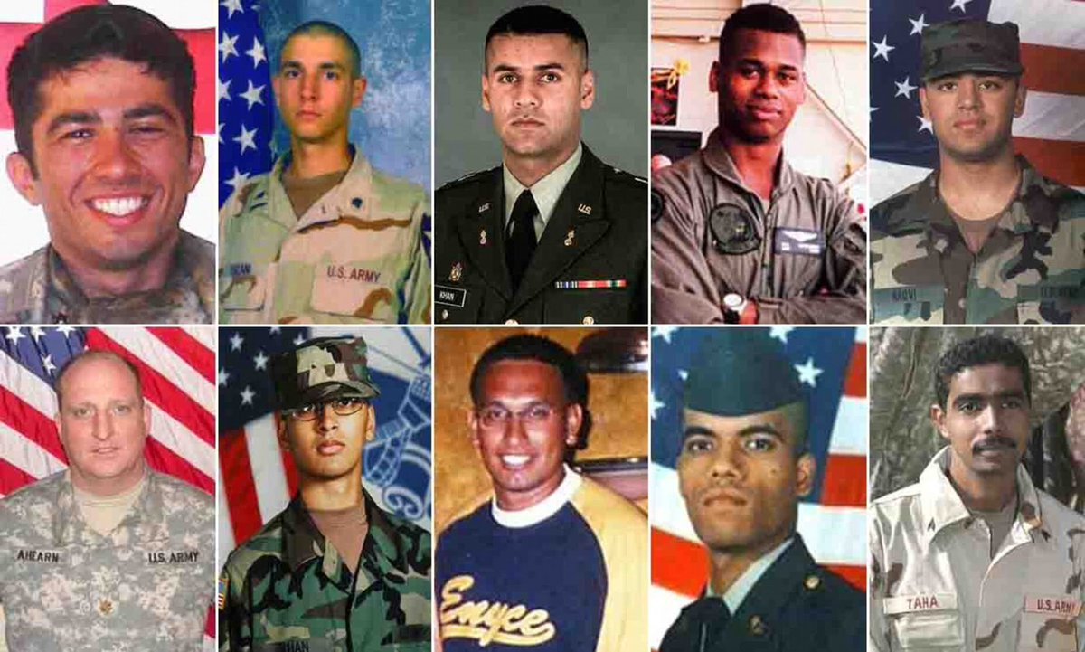 """Dear America: you really want to thank me for my service today? Retweet these """"Muslim"""" Americans who served and DIED for this Nation. Let America know we will NOT be divided! We stand UNITED as ONE: Muslims, Christians, Jews, Agnostics, Atheists, whatever. #VeteransDay"""