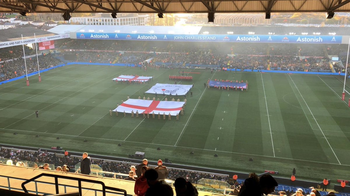 🏉 | Elland Road is ready for the final #EngvNZ test! Will it be an @England_RL whitewash?