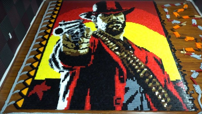 Check out this amazing Red Dead Redemption II tribute, built with more than 29,000 dominoes https://t.co/YEhiAFVWTq https://t.co/IxHfTLAKtk