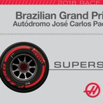 .@RGrosjean starts P8 on the @pirellisport #PZero Red supersoft compound. #HaasF1 #BrazilGP