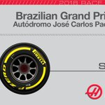 .@KevinMagnussen, with a free tire selection, will start the 71-lap race on the @pirellisport #PZero Yellow soft rubber. #BrazilGP🇧🇷