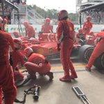 #Seb5 pitting for medium tyres, rejoined P9 #BrazilGP