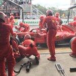 #Kimi7 pitting for medium tyres, rejoined P7 #BrazilGP