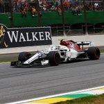 🚦2018 Brazilian Grand Prix - Half way update🚦  Yet to pit, but @Charles_Leclerc is up into P4 😁 SCENES!!  - P4 = LEC - OUT = ERI  #Alfaromeosauberf1team #BrazilGP