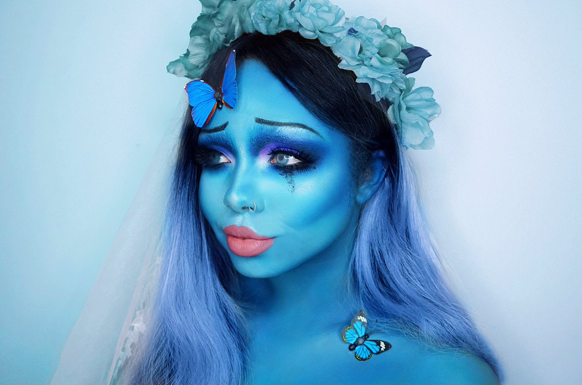 My Emily from Tim Burton's Corpse Bride makeup look (which I actually did before Halloween lol) Instagram @ succubxbepic.twitter.com/OWXNio0w6s