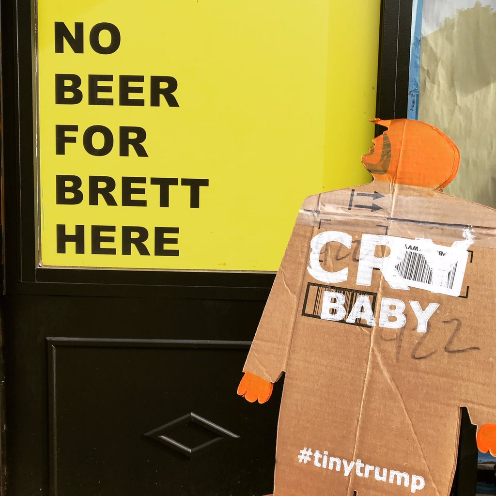 #tinytrump is upset he can't get a six pack or 12 for his misogynist pal Brett. #resist #nobeerforbrett  #brettkavanaugh #stopkavanaugh #kavanope #nobeerhere #ilikebeer<br>http://pic.twitter.com/SsyEUCRSws