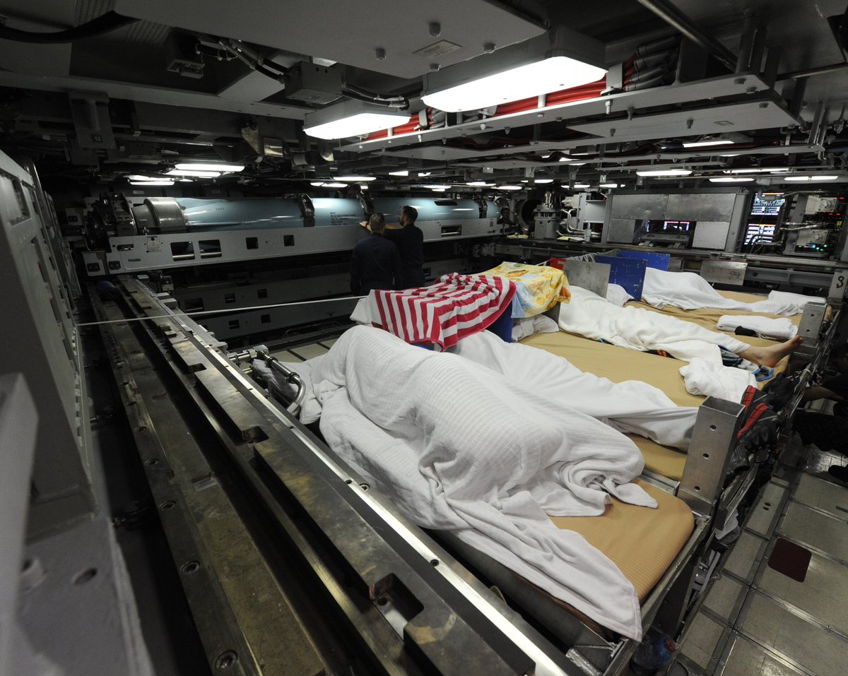 A little view into the world of a submariner. Sleeping in the Torpedo Room on the #SSN #VirginiaClass USS Indiana.   #SubSunday #Submarines #HappyVeteransDay<br>http://pic.twitter.com/bHXX8zNQAw
