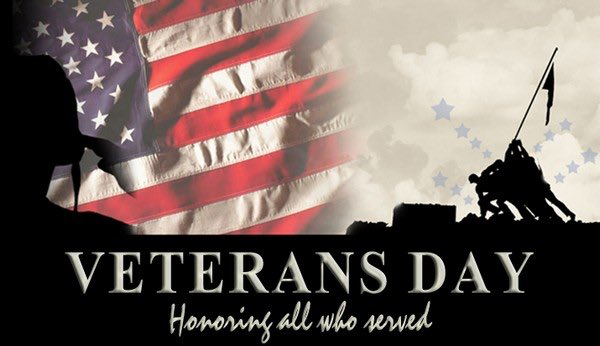 Wishing all of my fellow veterans a very Happy Veterans Day! Thank you all for your willingness to serve and protect this mighty nation!