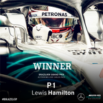 Lewis WINS the #BrazilGP!!!!!We are 2018 #F1 World Constructors' Champions!!!!!GET IN THERE!!!!! #HiFive