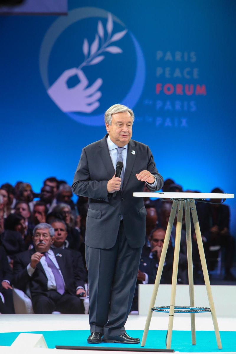 At a time of multiplying conflicts, advancing climate change, deepening inequality and rising tensions over trade, we need a reformed, reinvigorated and strengthened multilateral system. My remarks at #ParisPeaceForum bit.ly/2AXF8TF