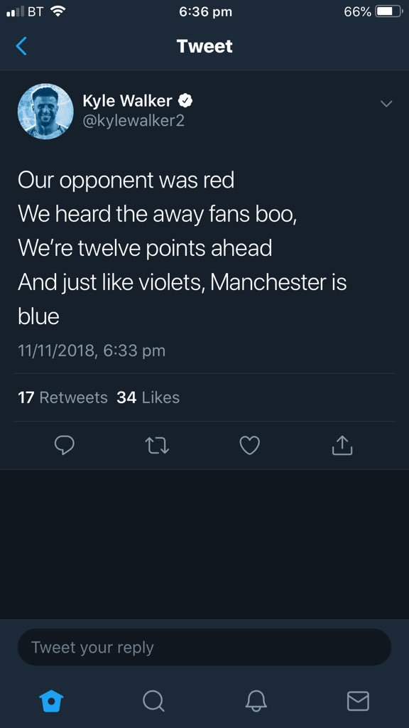 🤣 Kyle Walker sticking the knife in... #ManchesterDerby #MCFC