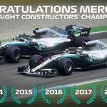 FIVE-IN-A-ROW. 💪 Congratulations, @MercedesAMGF1!  #BrazilGP 🇧🇷 #F1