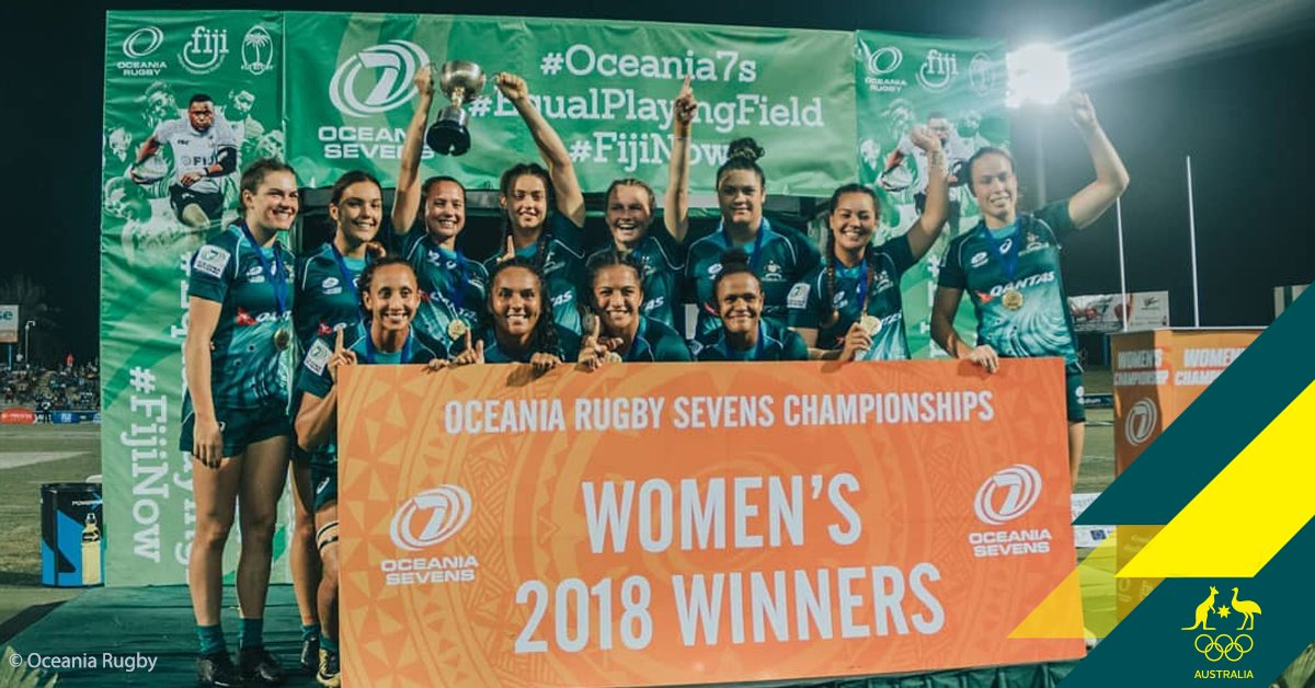 .@Aussie7s women win thrilling final 🏆, as men take fourth at #Oceania7s 👉👉👉 https://t.co/qDpNTAuI61 https://t.co/x2q75nNCIt