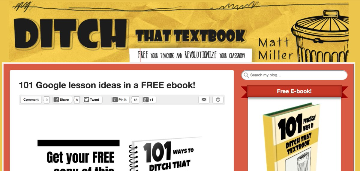 101 Google Lesson Ideas│via @jmattmiller ditchthattextbook.com/2018/11/08/101… #DitchBook