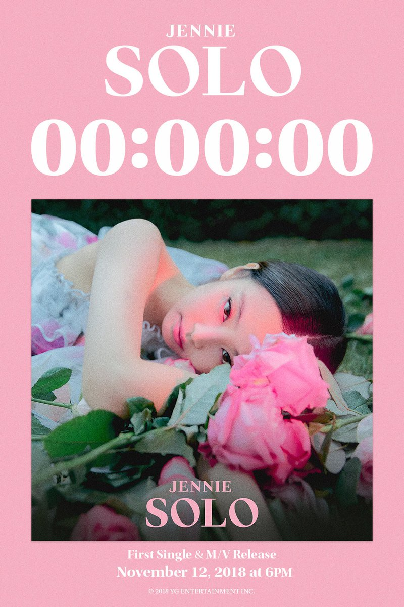 #JENNIE '#SOLO' COUNTER  First Single & M/V Release ✅ 2018. 11. 12  #BLACKPINK #블랙핑크 #제니 #YG