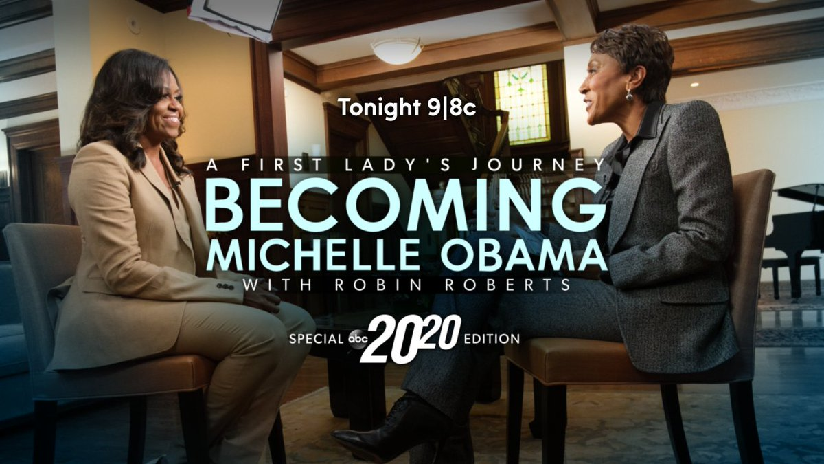 """EXCLUSIVE: Michelle Obama takes Robin Roberts back to her childhood home in ABC News prime-time special for her new memoir Becoming – """"A First Lady's Journey: Becoming Michelle Obama"""" airs TONIGHT at 9