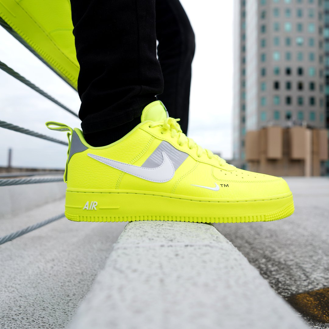 official photos d1cae 1f813 Is the Air Force 1 the world s most recognizable sneaker  Launching today  in select stores   online the Men s  Nike AF1 LV8 Utility  Volt !