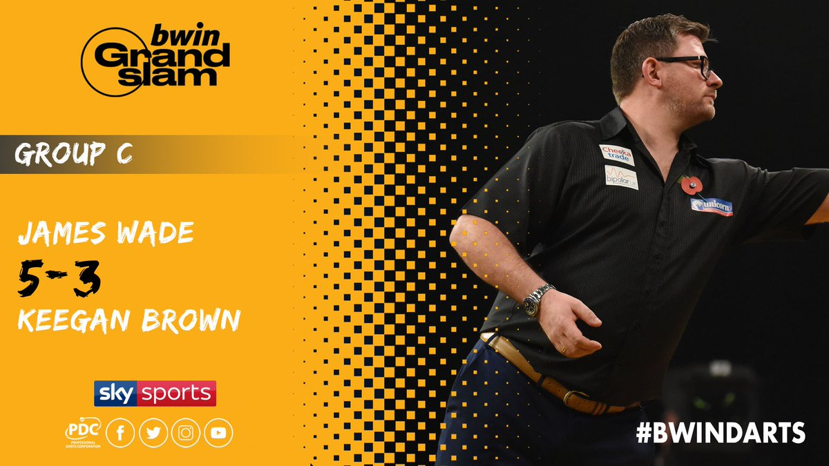 TYPICAL WADE! His unbeaten run continues as he fires three ton-plus checkouts and a 104 average in victory over Keegan Brown. #bwinDarts