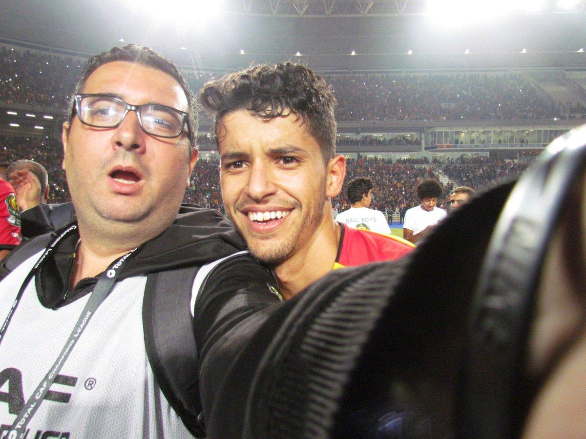 Avec l'homme de la finale de la #CAFCL #CAFCLFinal #ESTASC #TarajiDawla Saad Bguir https://t.co/3BAPSX32Er