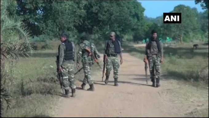#Chhattisgarh: Security heightened in Dantewada ahead of the first phase of voting in #ChhattisgarhElections2018 today. (Earlier visuals) Photo