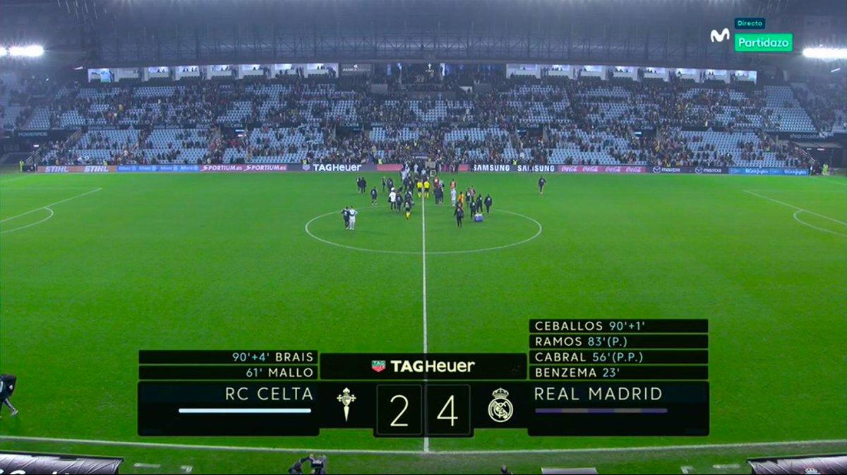 Final en Balaídos. El Real Madrid confirma su dinámica ganadora. #MovistarPartidazo