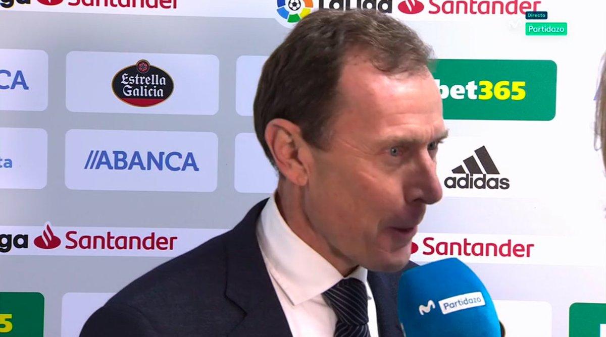 Estamos muy felices con Solari. Butragueño, preguntado por la continuidad del argentino como entrenador del primer equipo del Real Madrid. #MovistarPartidazo