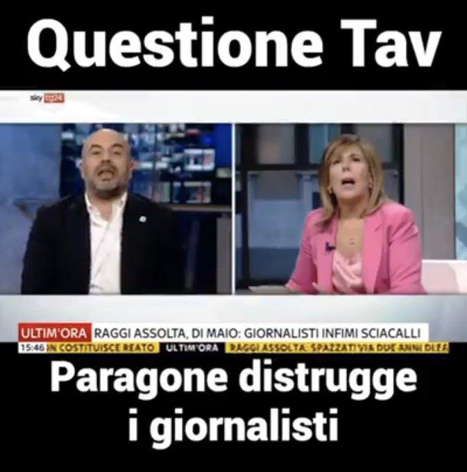 Un giornalista DICHIARATAMENTE #SITAV e @MariaLatella a confronto col sen. #Paragone @gparagone :NON SANNO quanti km di linea siano stati già fatti (ZERO),né che la tratta Lisbona-kiev non esista più Cioè.. non sanno di cosa parlano. Questo è giornalismo? Foto