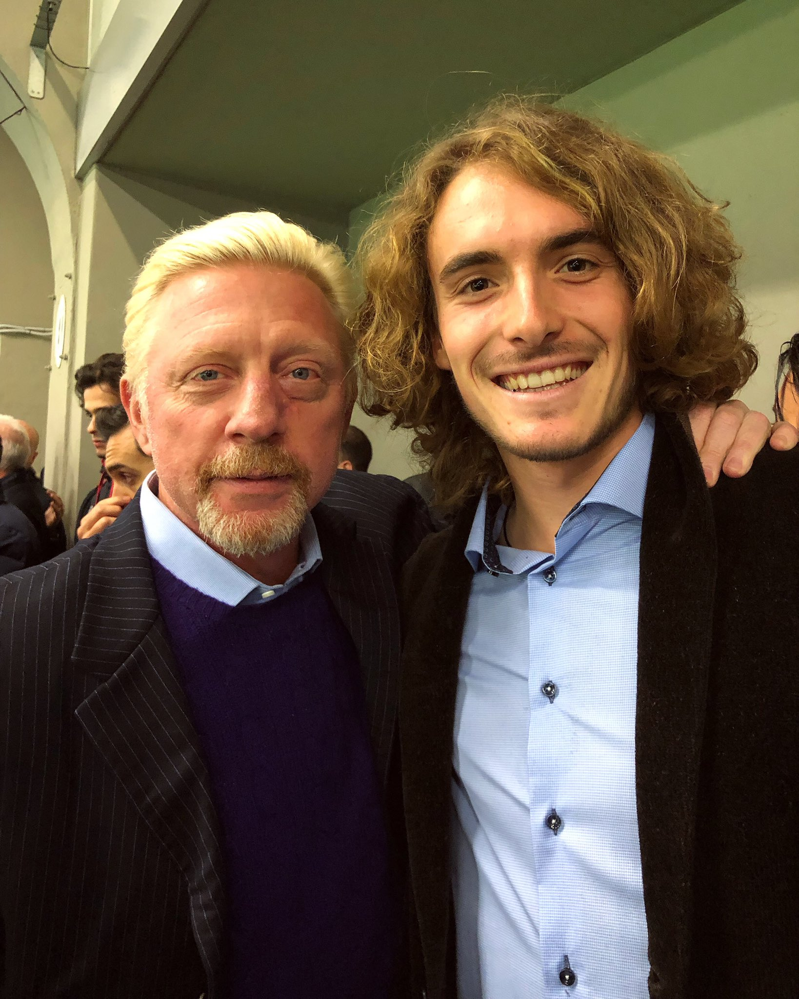 Stefanos Tsitsipas On Twitter Look Who I Bumped Into At The Juventusfc Vs Acmilan Seriea Match