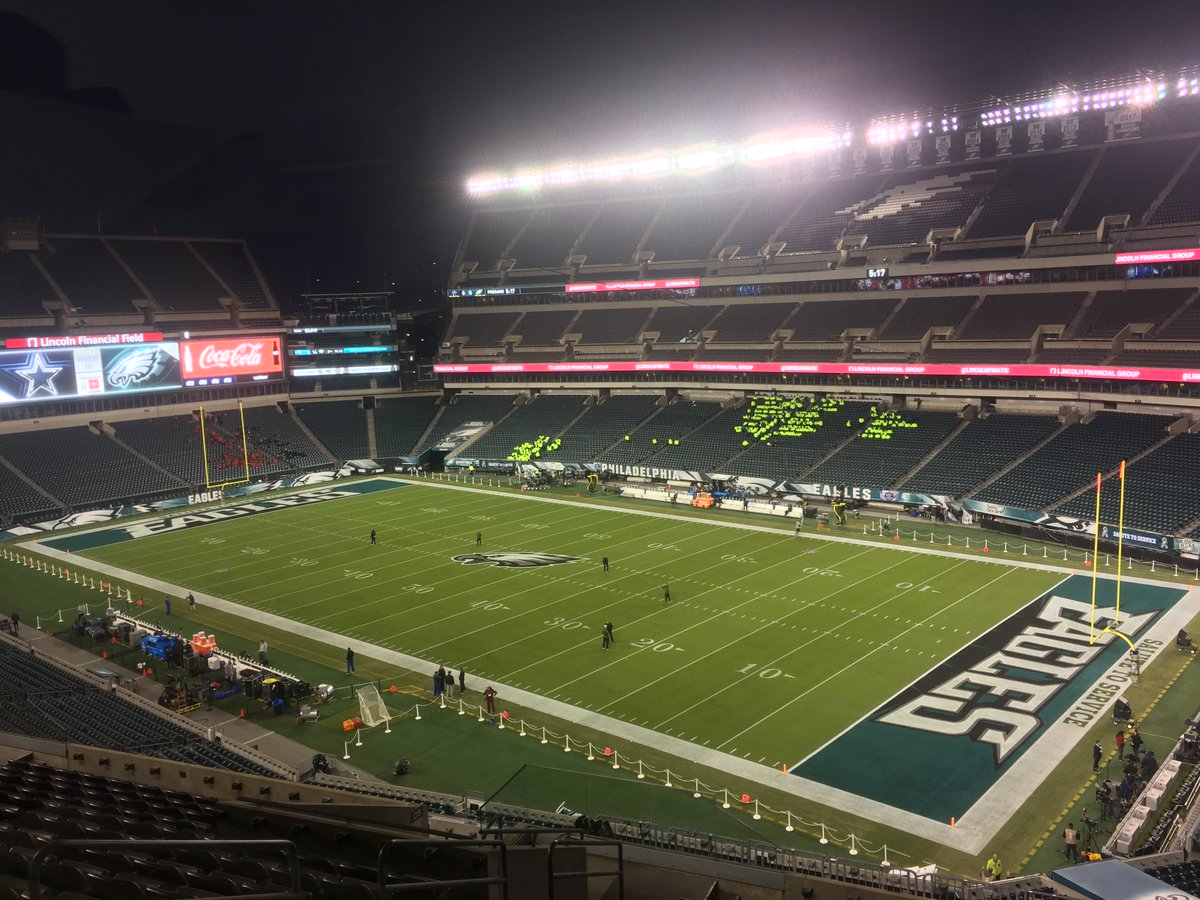 Kind of a big football game tonight here at the Linc. #Eagles #Cowboys